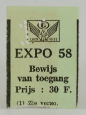 Expo 58 Toegang Ticket 2