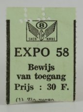 Expo 58 Toegang Ticket 4